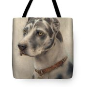 The Head Of A Doberman Tote Bag