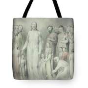 The Healing Of The Woman With An Issue Of Blood Tote Bag by William Blake