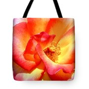 The Heart Of A Rose Tote Bag