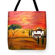 The Heat Of Tuscany Tote Bag