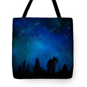 The Heavens Are Declaring Gods Glory Mural Tote Bag