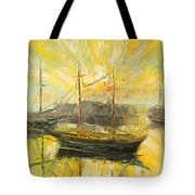 The Heraklion Harbour Tote Bag