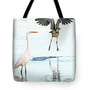 The Heron With The Bird Face Butt. Tote Bag