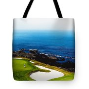 The Hole 7 At Pebble Beach Golf Links Tote Bag