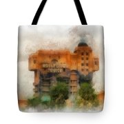 The Hollywood Tower Hotel Disneyland Photo Art 01 Tote Bag