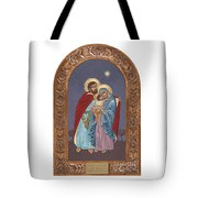 The Holy Family For The Holy Family Hospital Of Bethlehem With Frame Tote Bag
