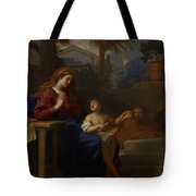 The Holy Family In Egypt Tote Bag by Charles Le Brun
