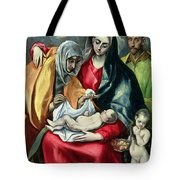 The Holy Family With St Elizabeth Tote Bag