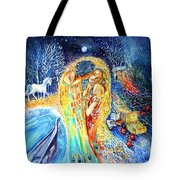 The Homecoming Kiss After Gustav Klimt Tote Bag