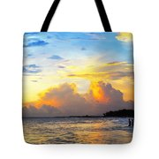 The Honeymoon - Sunset Art By Sharon Cummings Tote Bag by Sharon Cummings