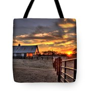 The Horse Barn Sunset Tote Bag