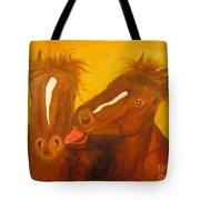 The Horse Kiss - Original Oil Painting Tote Bag