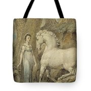 The Horse Tote Bag by William Blake