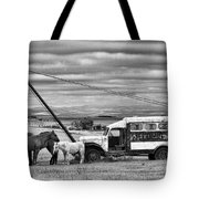 The Horses And The Welding Truck Tote Bag