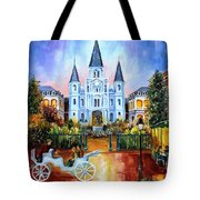 The Hours On Jackson Square Tote Bag