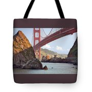 The House Below The Golden Gate Bridge Tote Bag