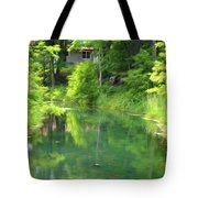 The House On The Bank Of The Lake Tote Bag