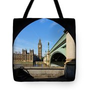 The Houses Of Parliament In London Tote Bag