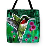 The Hummingbird Tote Bag by Genevieve Esson