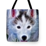The Huskie Pup Tote Bag by Bill Cannon