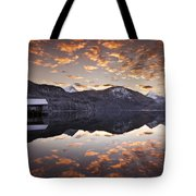 The Hut By The Lake Tote Bag