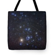 The Hyades Cluster With Aldebaran Tote Bag