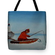 The Ice Fisherman Tote Bag
