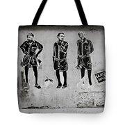 Homage To Banksy Tote Bag