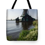 The Iconic Windmills Of  Holland  Tote Bag
