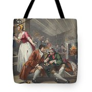 The Idle Prentice Betrayed Tote Bag by William Hogarth