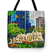 The Illuminated Crowd Of Montreal Tote Bag
