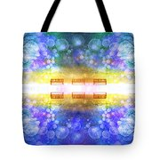 The Illusion Benches Tote Bag