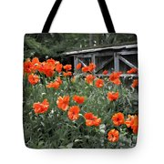 The Inspiration Of Orange Poppies Tote Bag