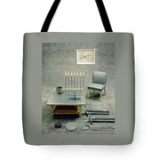 The Interior Design Of A Gray Living Room Tote Bag