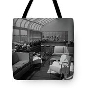 The Interior Of A Rooftop Terrace Tote Bag