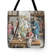 The Invention Of Oil Paint, Plate 15 Tote Bag