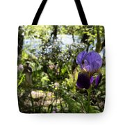The Iris And St Francis Tote Bag