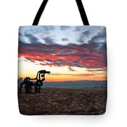 The Iron Horse Early Dawn The Iron Horse Collection Art Tote Bag
