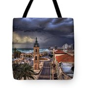 the Jaffa old clock tower Tote Bag