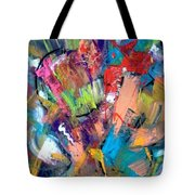Jazz Abstract Painting Tote Bag