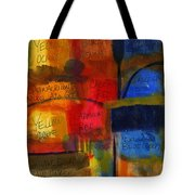 The Joy Of Planning An Abstract Painting At Starbucks Tote Bag