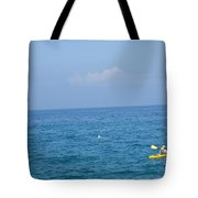 The Kayak And The Gull Tote Bag