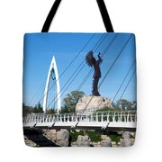 The Keeper Of The Plains In Wichita Tote Bag