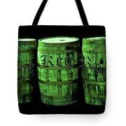 The Keg Room 3 Green Barrels Old English Hunter Green Tote Bag