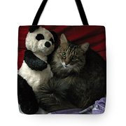 The King Kitty And Panda 01 Tote Bag