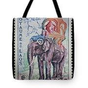 The King's Elephant Vintage Postage Stamp Print Tote Bag