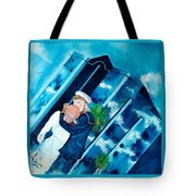 The Kiss At One Tower Tote Bag