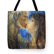 The Kiss In Landscape Tote Bag