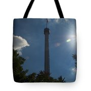 The Kissing Tower Tote Bag