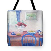 The Kitchen Table Laid For Lunch Tote Bag